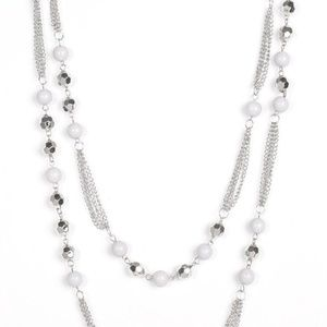 Beautifully Bodacious Silver - necklace